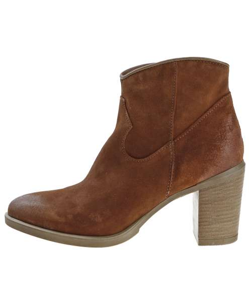 Ankle boots brandy
