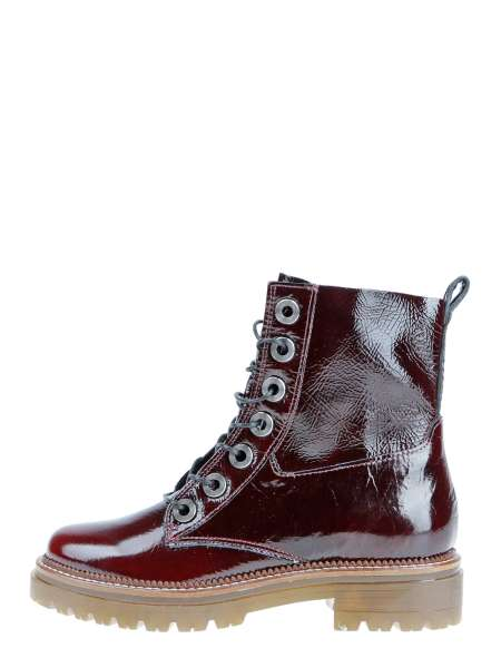 Laced boots bordo