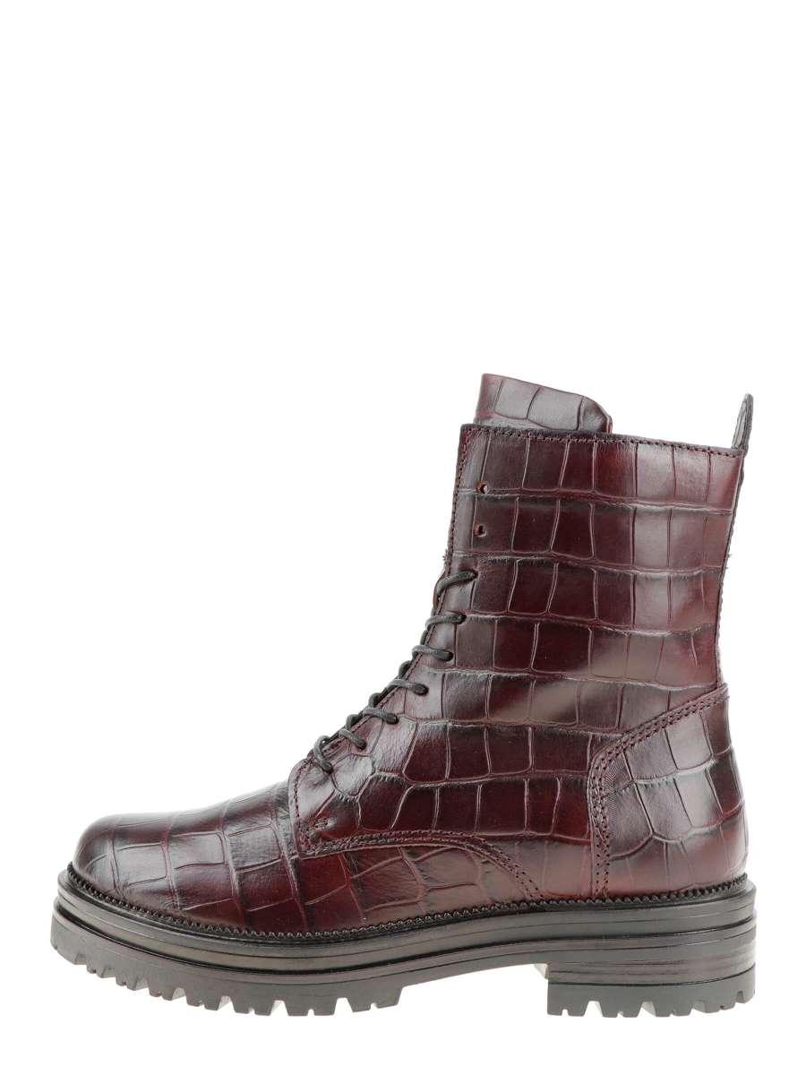 Laced boots bordo