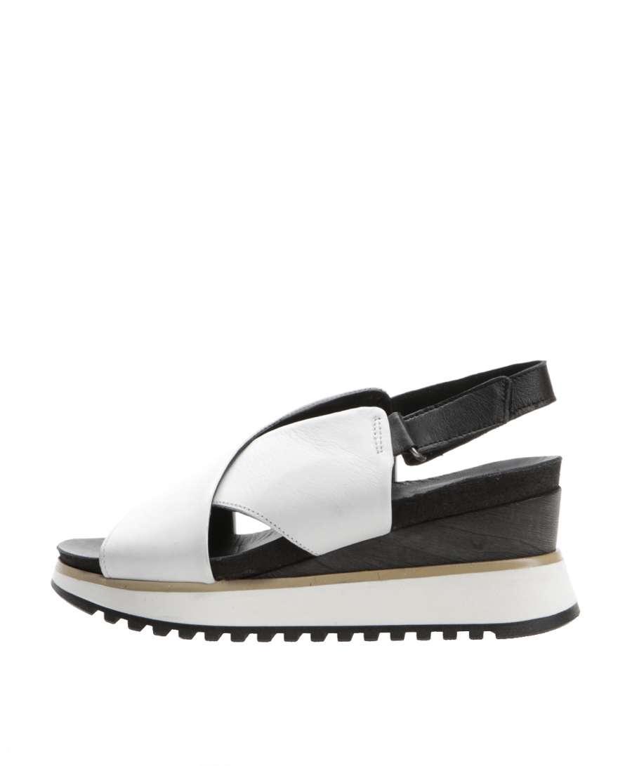 Wedge sandals bianco