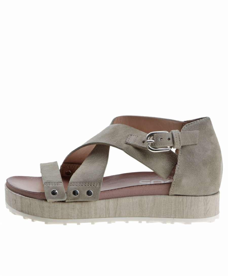 Strappy sandals kaki