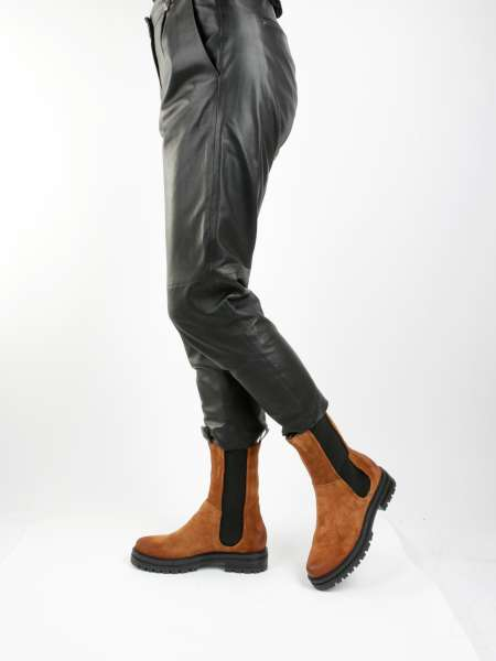 High Top Chelsea Boots brandy