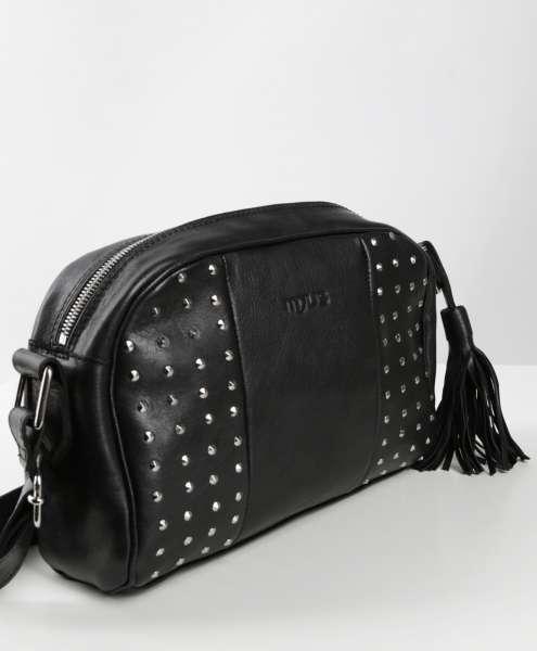 Nieten Handtasche nero
