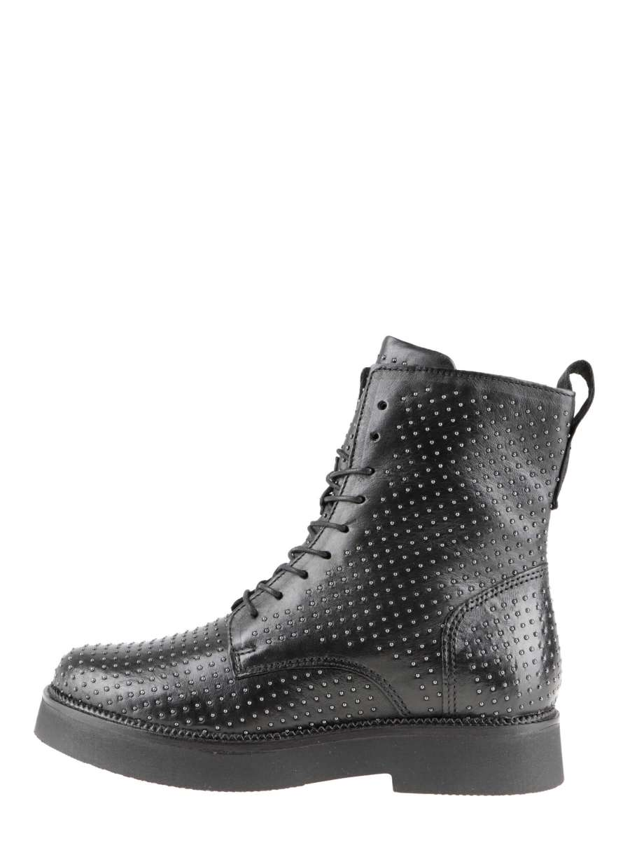 Studded ankle boots nero
