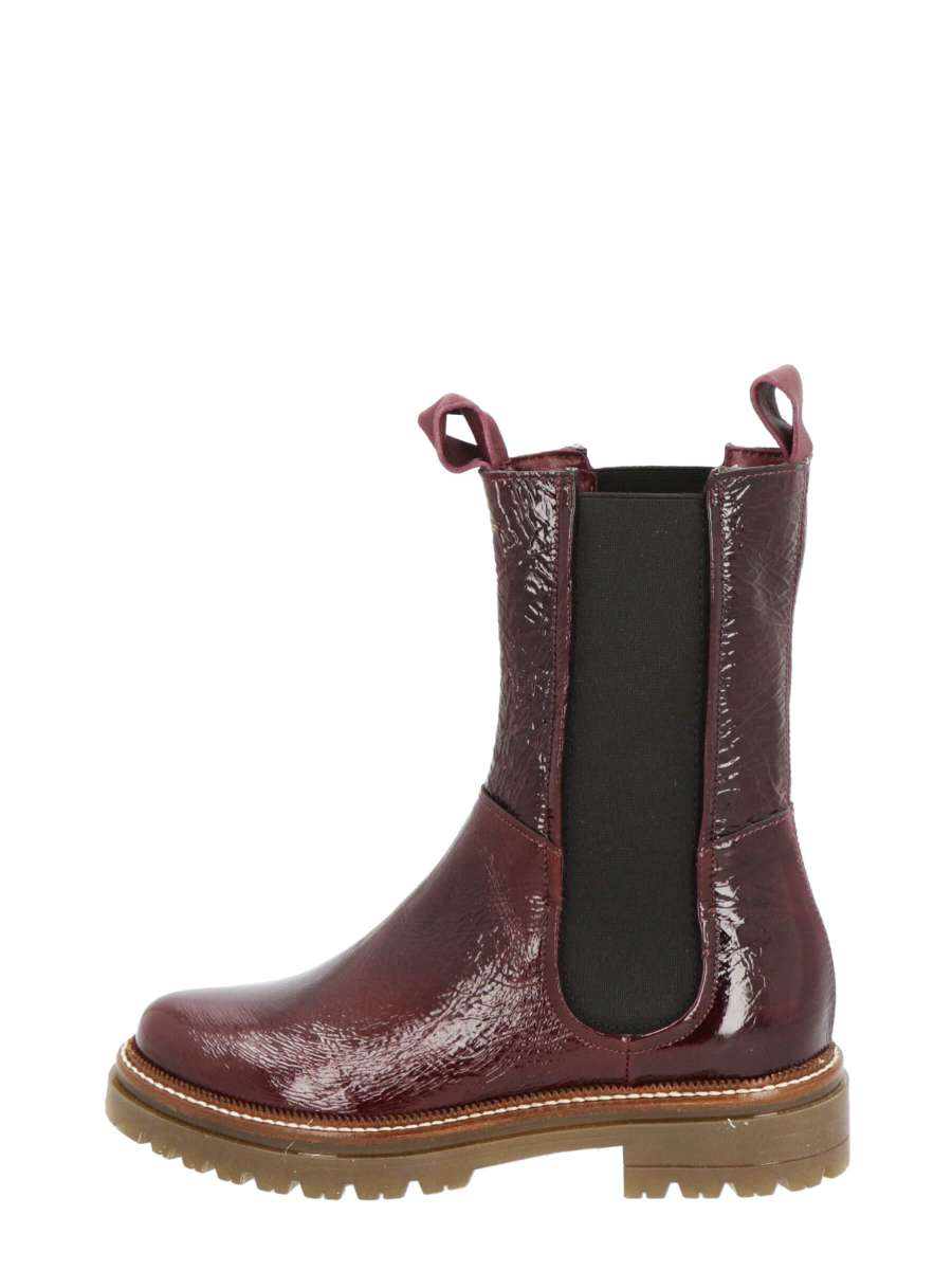 High top chelsea boots bordo