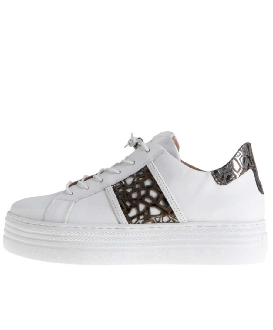 Platform sneakers bianco