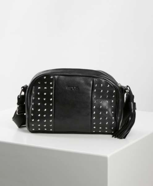 Studded handbag nero