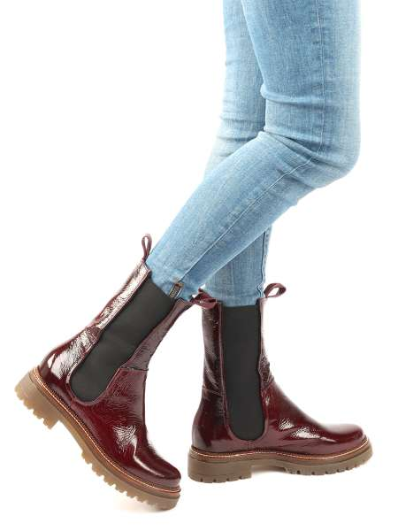 High Top Chelsea Boots bordo