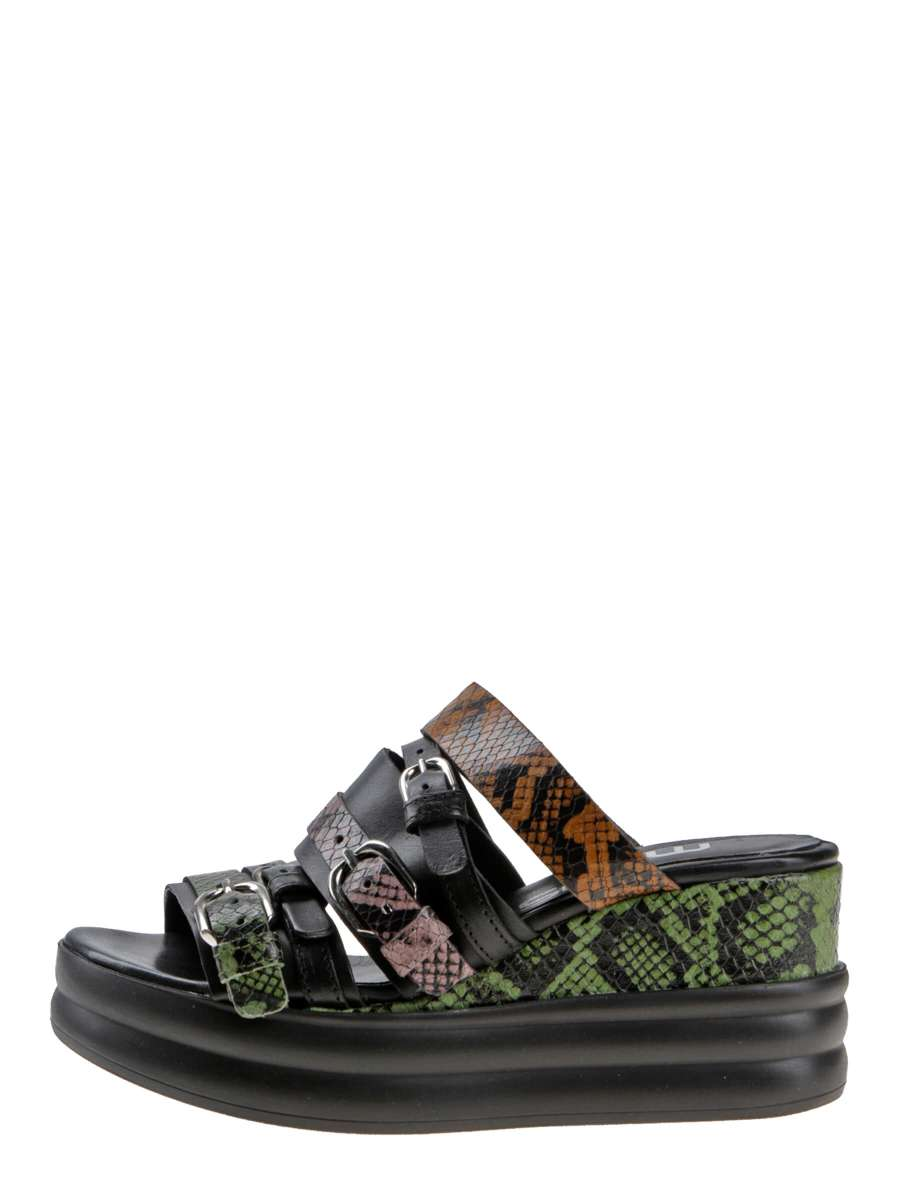 Wedge sandals pistacchio