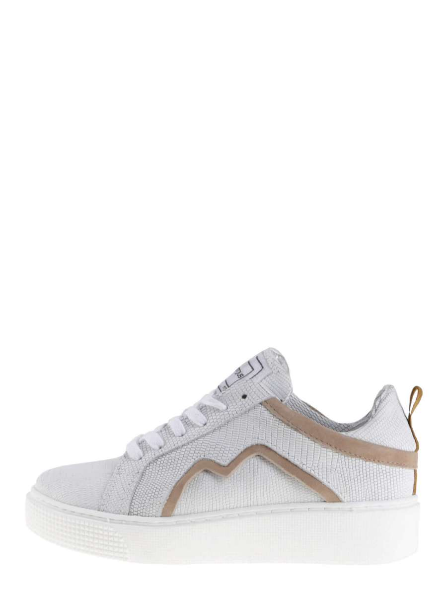 Plateau sneakers bianco