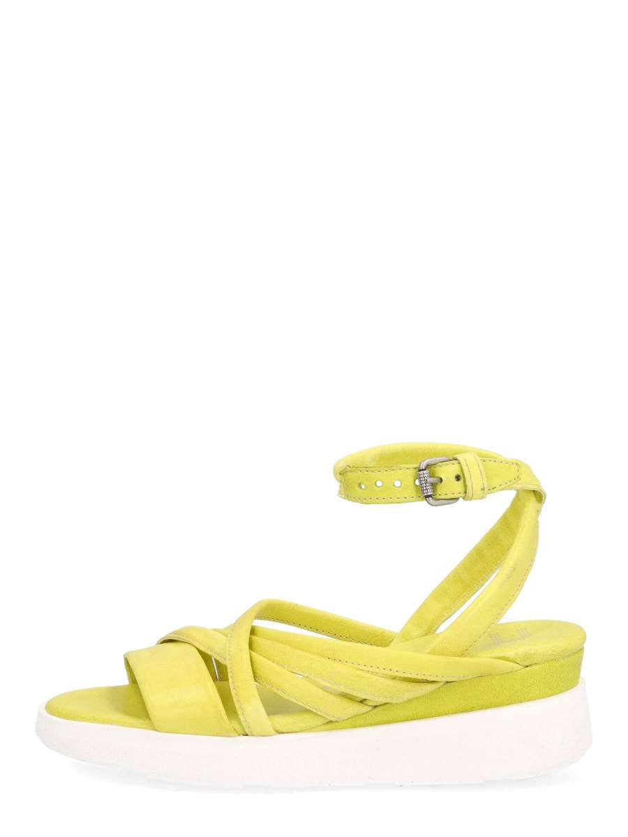 Wedge sandals lime