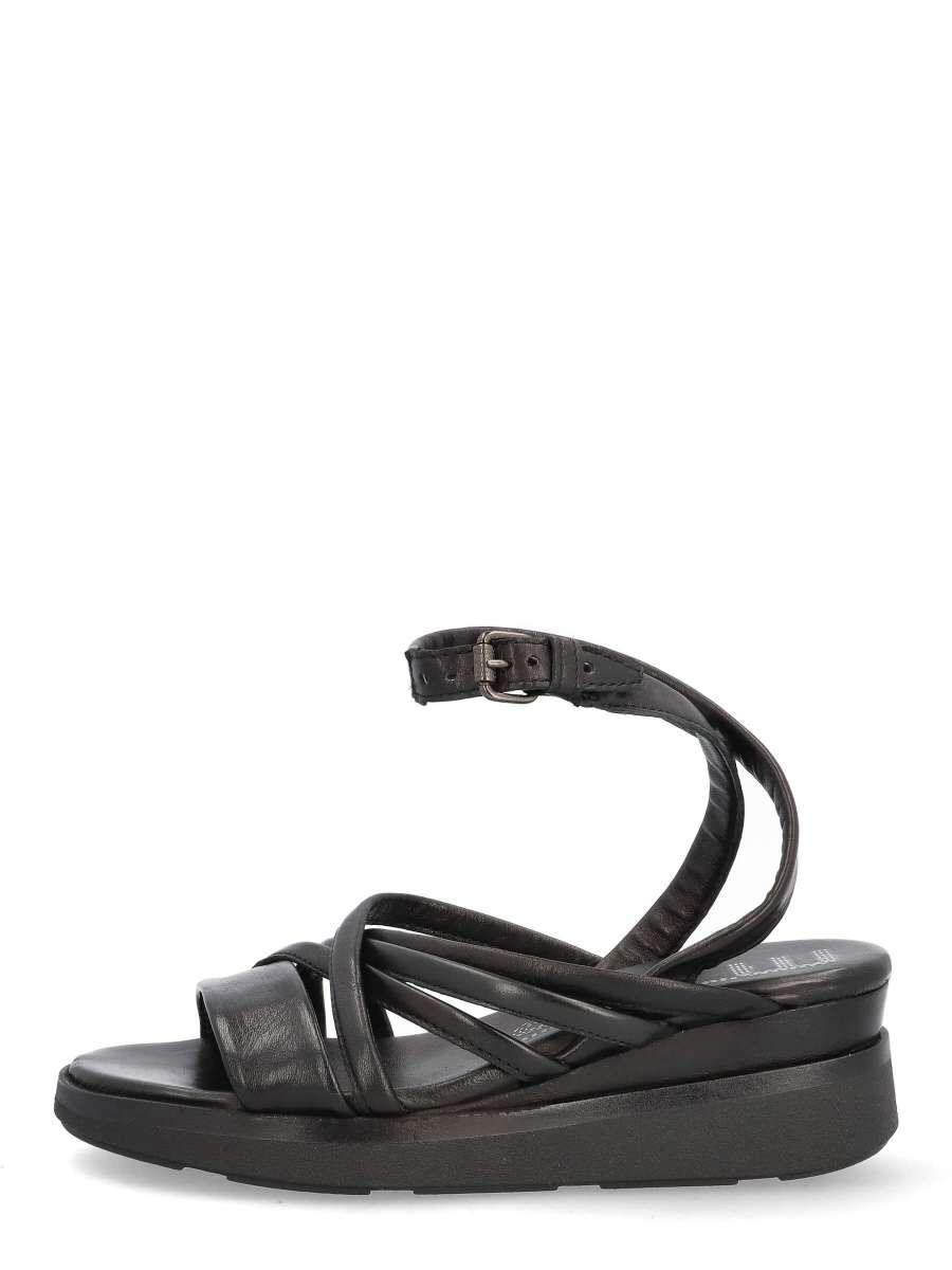 Wedge sandals nero