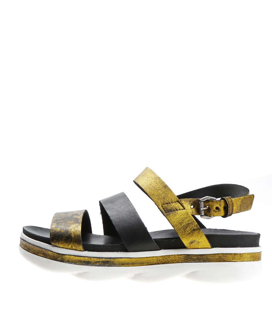 Strappy sandals lemon