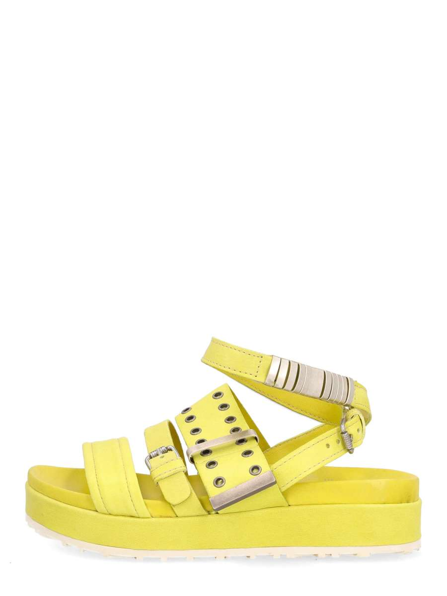 Strappy sandals lime