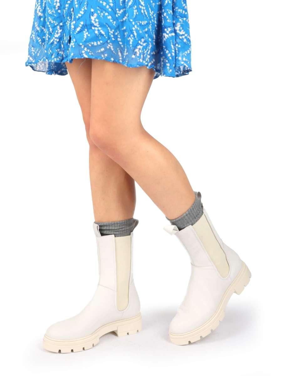 High Top Chelsea Boots panna