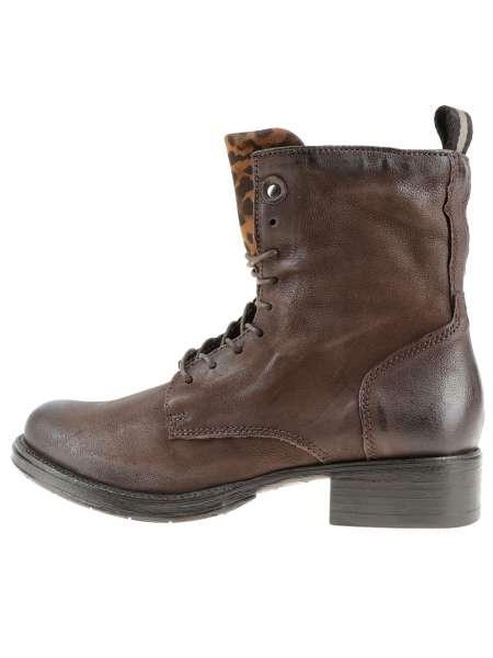 Laced boot moka