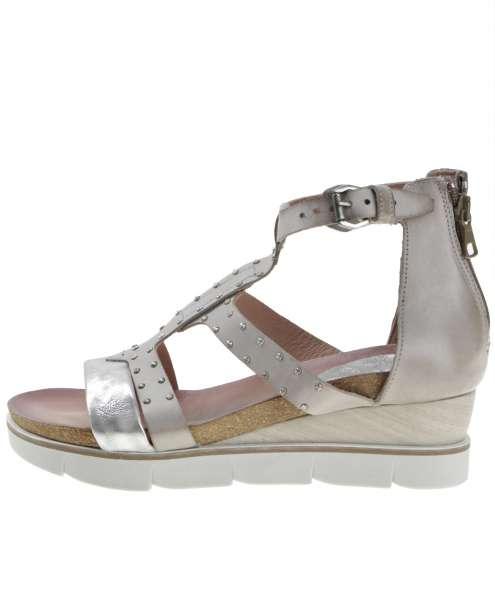 Studded sandals inox