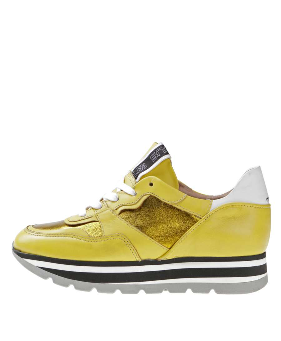Platform sneaker vaniglia