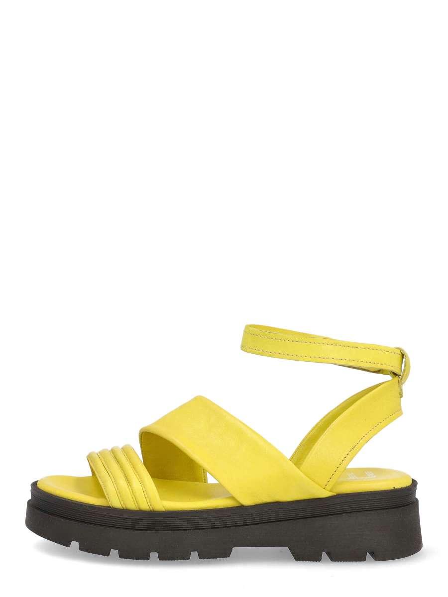 Platform sandals lime