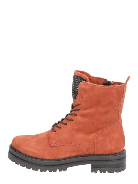 Laced boots scarlet