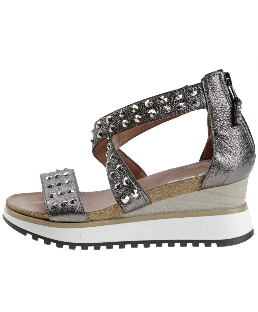 Wedge sandals canna di fucile