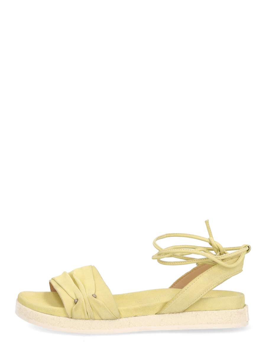 Laced sandals vaniglia