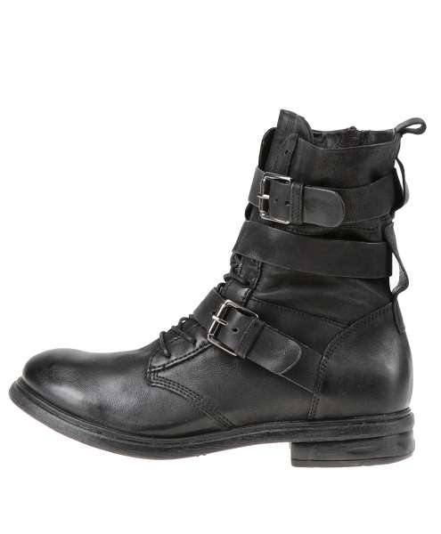 Buckle boots nero