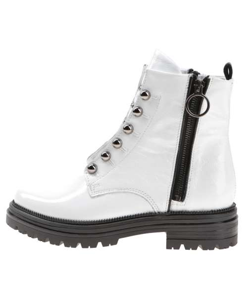 Laced boots bianco