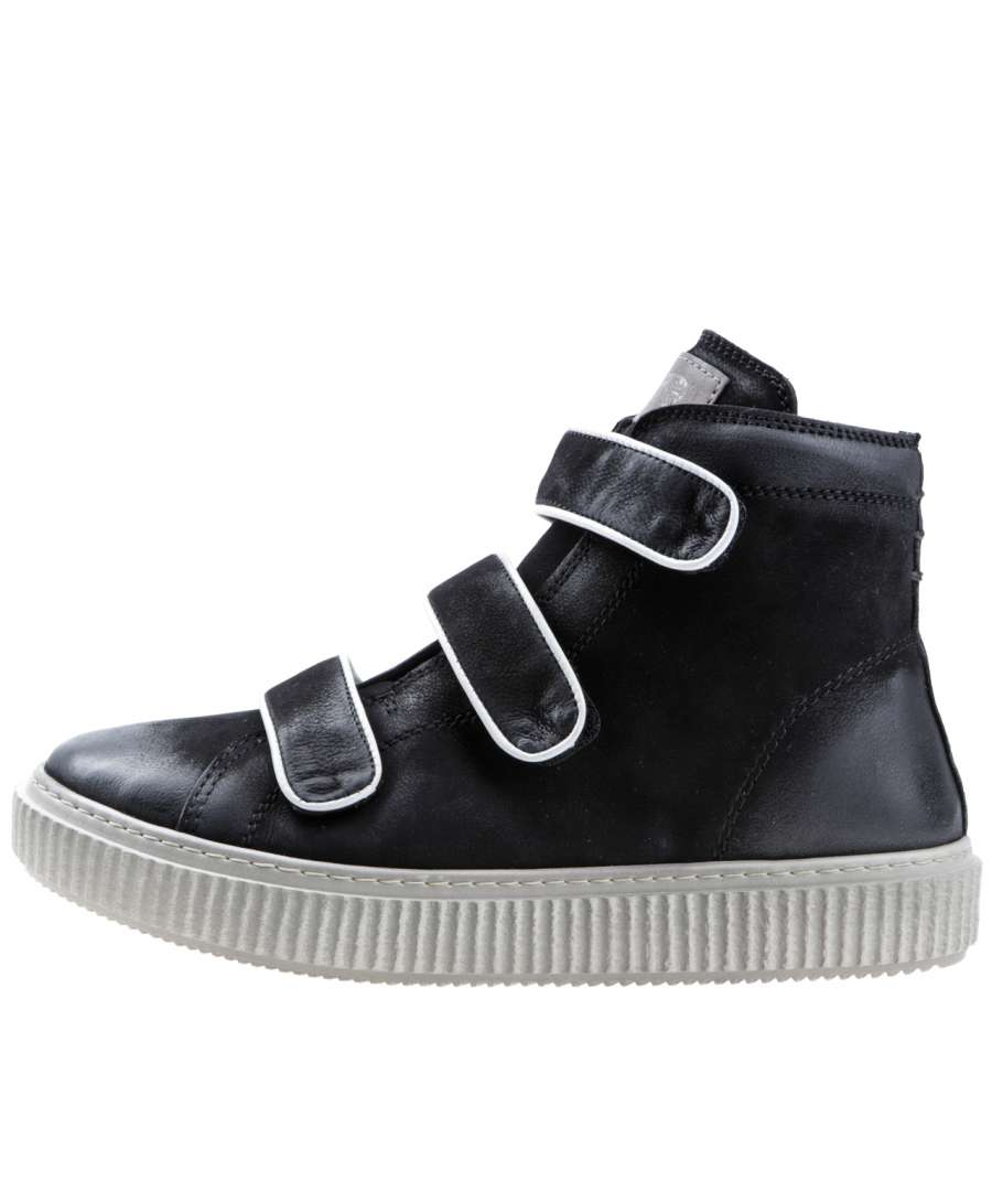 High-top sneaker nero