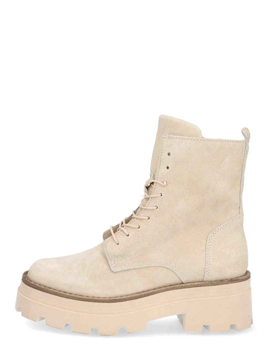 Laced boots panna