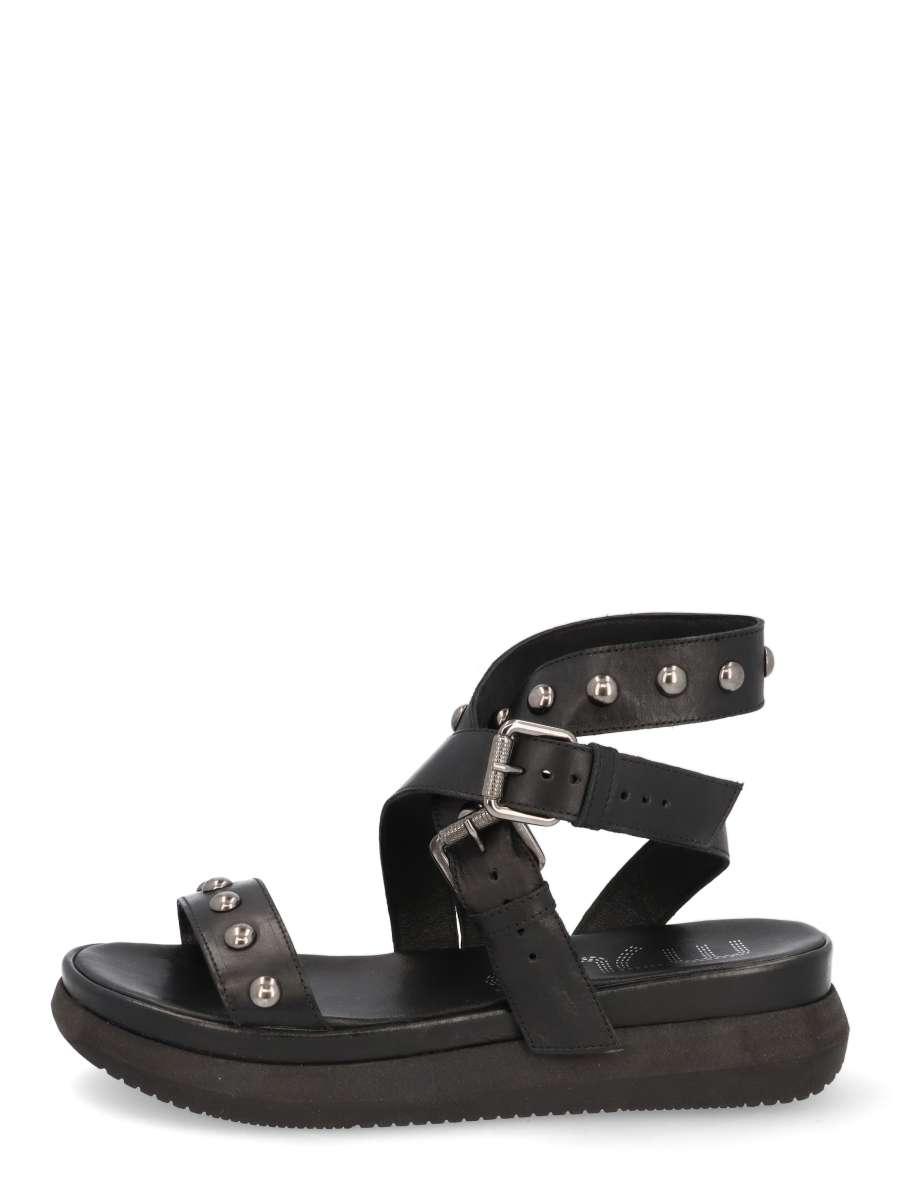 Buckle sandals nero