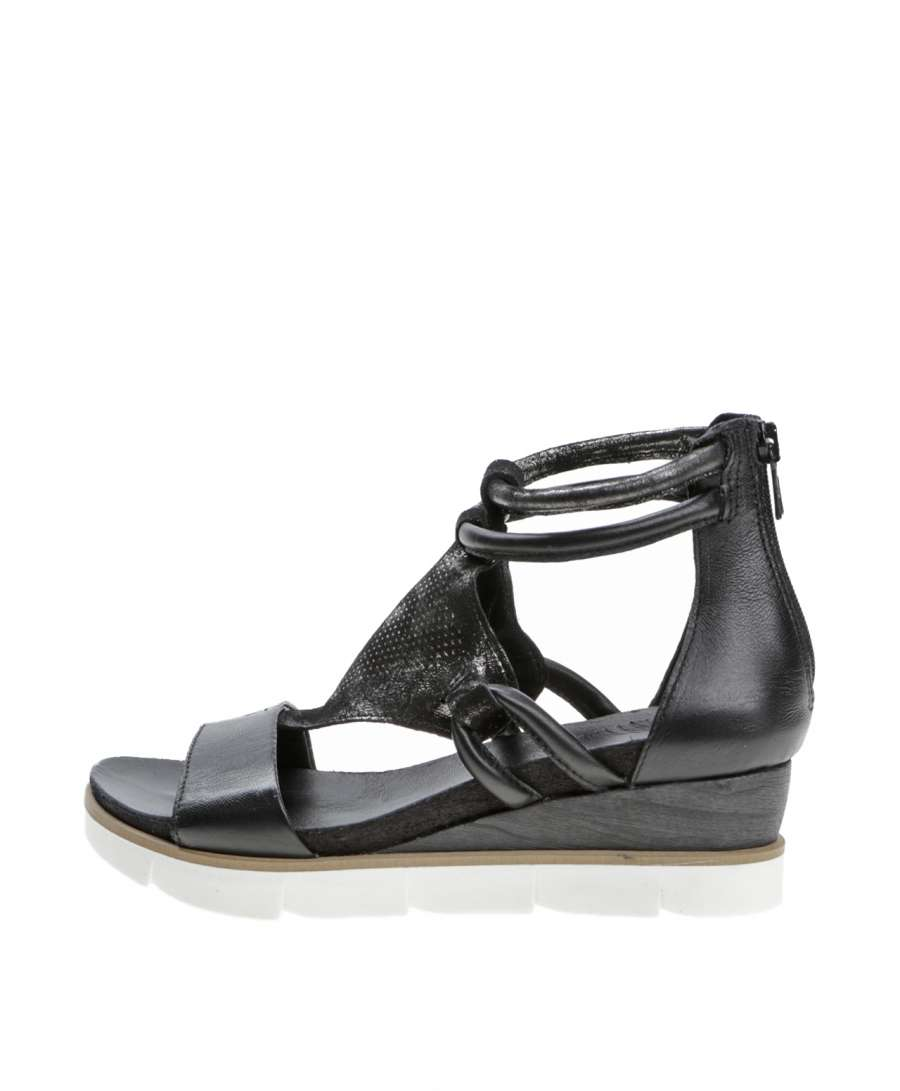 Wedge sandals nero